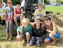 ABOUT 20 Ulmarra and Tucabia kids stepped up over the weekend to give their community a helping hand to fill sand bags to stop their town from flooding.