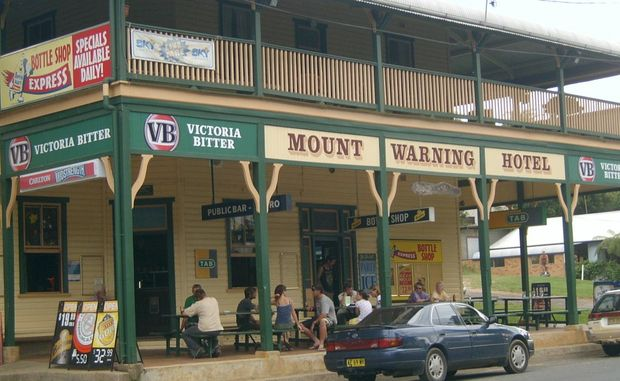 The Mt Warning Hotel as is used to look before the fire.