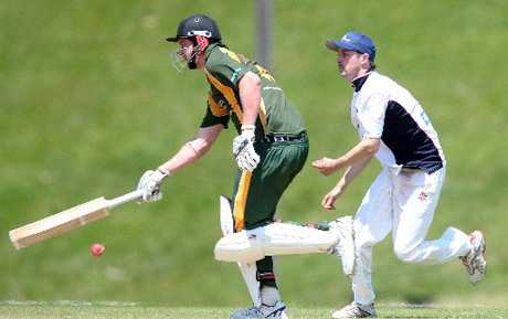 TOP KNOCK: Mount Maunganui batsman Ben Guild scored 75 to get his team home against Cadets in a key Williams Cup match played at the Tauranga Domain on Saturday.
