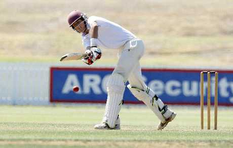 TOP INNINGS: Onerahi Central batsman Brad Kneebone notched up a century as he and Henry Cooper combined for an all-day partnership.