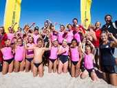 Maia Bryant's final appearance at the Oceans 13 New Zealand under-14 surf lifesaving championships threatened to end in tears with her left leg heavily strapped.