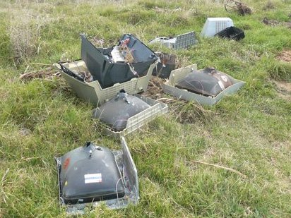 BAD RECEPTION: These old TVs were dumped on the road on the riverbank between the port and the North Mole. The next day a couch and chairs were dumped on the Gilberd St riverbank by the boat ramp.PHOTO/SUPPLIED