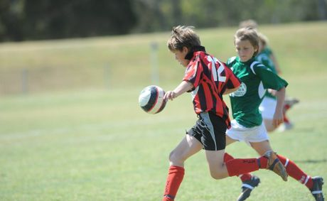 Alstonville Under 12 player Corey Vidler during the grand final against the Italo Stars at Oakes Oval in Lismore. soccer Photo Marc Stapelberg / The Northern Star