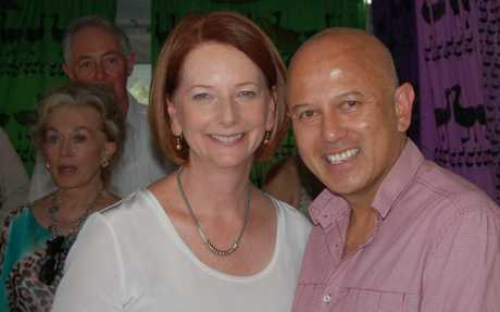 WINED AND DINED: Prime Minister Julia Gillard sampled Glen Robert's wine at Woodford Folk Festival. Photo Contributed
