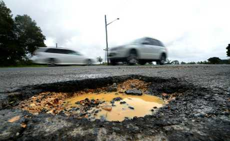 Pot Holes around tweed.