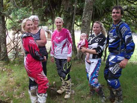DAY OUT: Sianella Owen (left), Liz Owen, Mary-Jane Davis, Keziah Deverell 