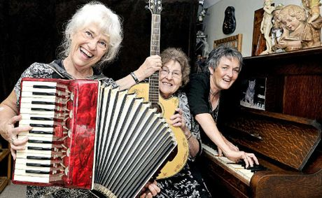 HARMONY: Val Wills, Verli Gulliver and Ann Saul, have been playing and singing together for 37 years in and around Lismore.