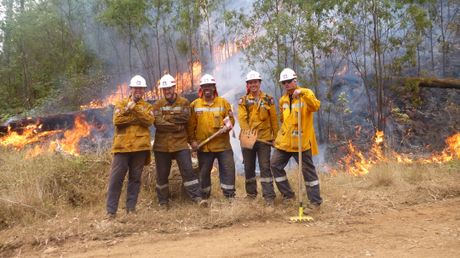 TEAM EFFORT: The Northland crew are in Victoria to help extinguish bushfires.