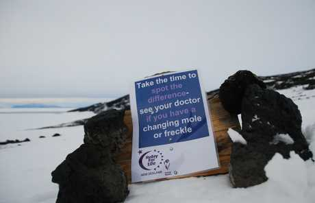 COLD REALITY: This year's Relay for Life will have an Antarctic focus following the first Relay at Scott Base, above, held earlier this month.