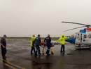 Chopper airlifts man after crash