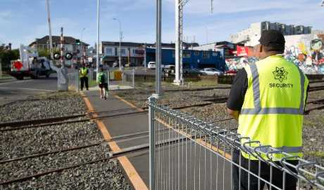 The railway crossing which nearly claimed the life of a woman had been identified by authorities as a top priority for removal.