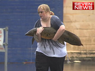 IT'S being hailed as the catch of the day across Queensland - a rare lungfish was rescued from the carpark of a Gympie hotel today by a kind-hearted local.