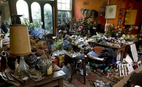 Artist Margaret Olley's home studio.