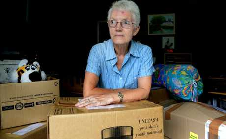 Terri Bradley is collecting for flood victims. Photo: John Gass / Daily News