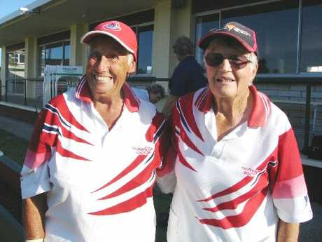 Tauranga South pair of Dawn Clark and Del Hawke who took out the Women's Centre Pairs title.