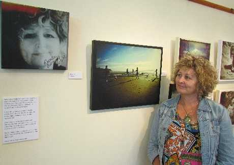 One of Rhonda Bunyan&#39;s artworks exhibited at The Eltham Village Gallery: a self portrait.
