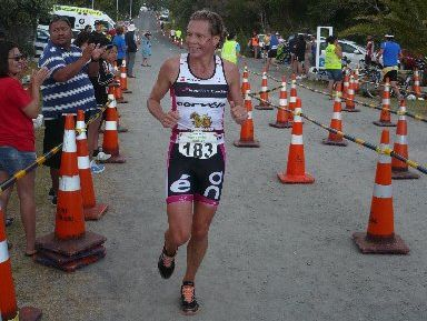 Northland's Sam Warriner cleaned up at the Mangawhai Triathlon as she continued her comeback to competitive racing.