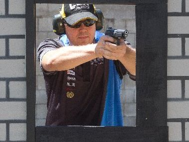 Rotorua's Colin Bell (pictured) is competing in the biggest pistol shooting competition seen in New Zealand at the Rotorua Pistol Club.