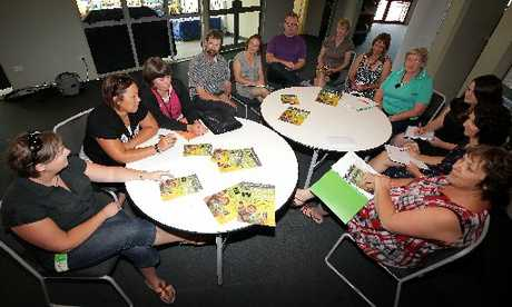 CHILDREN'S DAY: Finalising plans for Children's Day Treasure our Children on Sunday were from left: Annie Firaza (Life to the Max), Tess Nicol (CYF), Deidre Fraser (CYF), Julian Clark (CYF), Debra Smith (Playcentre), Lincoln Martin (Open Home Foundation), Debbie Byers (AFSW), Marianne Vine (Public Health), Bev Way (St John's Youth), Sara Manning (OHF), Liza Iliffe (Skip) and Lynette Archer (Skip). PHOTO/STUART MUNRO