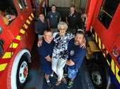A heartfelt thank-you came in the form of bacon and egg pie and hugs for the Katikati volunteer firefighters who tramped for nearly an hour to rescue an elderly tramper.