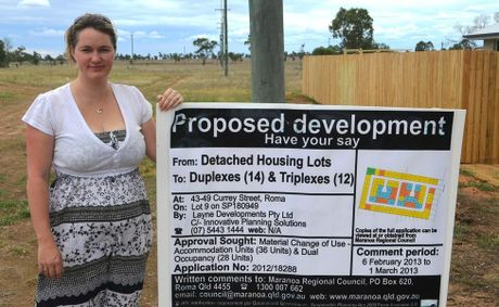 Roma resident Meagan Sipple wants residents to know about the proposed development on Currey Street, which (if built) will be developed on the land adjoining her Robusta Drive home.
