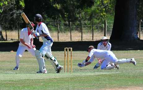 THAT'S OUT: Lansdowne batsman Alex Treseder is caught behind by Red Star wicketkeeper Chris Wenden during Bidwill Cup action last week.
