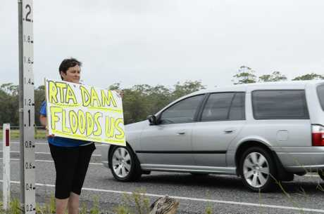 Unhappy Corindi Park resident Jill Mitchell met on the Pacific Highway at Blackadder Creek on Monday with the RMS to voice there concerns regarding the imapct of two floods on their properties. Photo Debrah Novak / The Daily Examiner