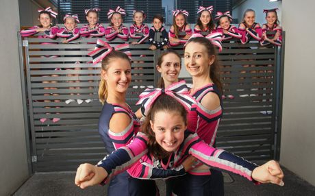 MDC Super Starz cheerleaders (including front left to right) Danielle Schmidt, Darcy Walsh, coach Michele Felsman and Emma Stewart are all set to travel to Hawaii to compete.