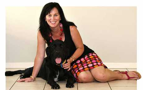 Anita Bottomley with Ekka, her 12th Guide Dog in training.