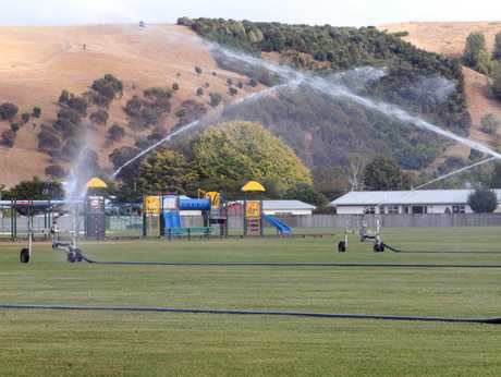 Some Napier residents have complained about the council's use of sprinklers during such a dry summer.