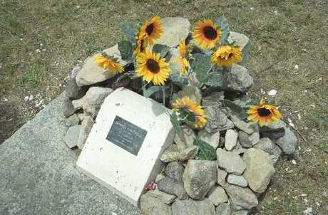 The memorial on Mauao&#39;s summit for Monica Cantwell.
