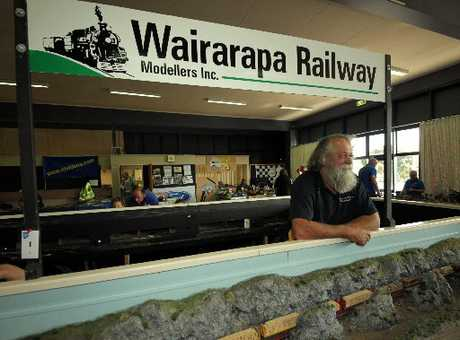 TRACKMAN: Clinton Buller of Carterton only started playing with trains 20 years ago, but now he's well and truly hooked. The Wairarapa club display can be taken apart and re-assembled at any venue.PICTURE/STUART MUNRO