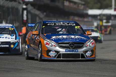 Tim Slade worked hard at the back of the field during the Clipsal 500 in Adelaide.