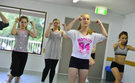 A Danceography hip hop class at the Boyne Island Community Centre. Brooke Leeson, 13.
