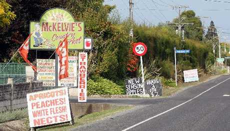 Fruit and vege gems are dotted along Meeanee Rd at the edge of Napier. 