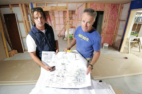 Builders Jason Burgess and Miles Everton feel more relaxed about the future of their business as the recession starts to lose its grip on the economy.