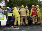 EMERGENCY service personnel have freed a 62-year-old woman after a two car collision at Kingaroy this morning.