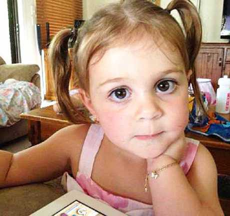 MYSTERY: Ashlynn Frost, 3, has been ill for more than two weeks.