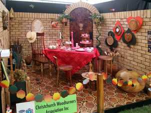 2013 Ellerslie International Flower Show, Christchurch Gold medal winner, Hort Galore: Alice in Wonderland by the Christchurch Woodturners Association