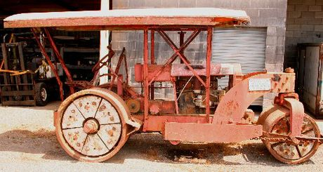 A Stratford-manufactured 'Harvos' road roller, complete with concrete weighted wheels, will be a major exhibit in the 'Union Foundries Ltd' historic collection at the the Pioneer Village.
