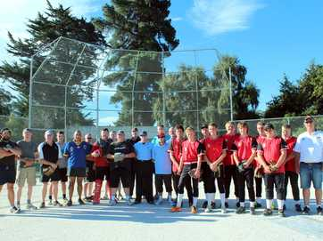 Waitaki Boys' High School showed their expertise on the softball field when they took on the police at Centennial Park on Tuesday night.