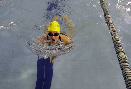 SMOOTH ACTION: Year 9 swimmer Holly Houliston competes in a breaststroke event. 