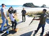Mount Maunganui is to serve as a backdrop in the popular television show The Almighty Johnsons.