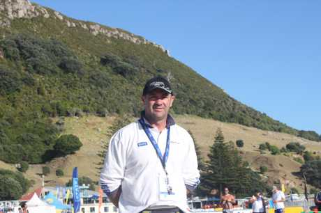Craig Lacy, volunteer official, at the National Surf Lifesaving champs at Mount Maunganui.