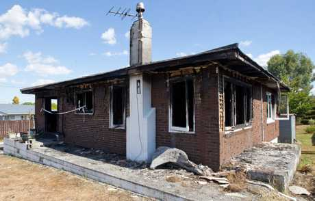 GUTTED: Sharlene Coe's Roosevelt Rd home was destroyed in an early morning fire