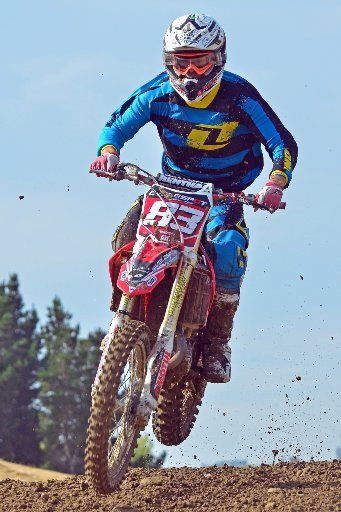 Pukekohe rider James Ainsworth (Honda CRF450), has been riding at Harrisville since he was a youngster.