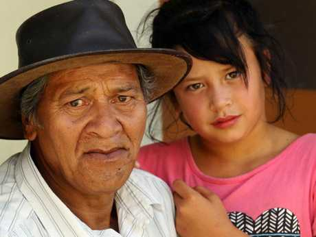 Joe Tumanako (left) and his granddaughter, Honey, have been waiting five years to find out why their daughter and mother, Annabelle Tumanako (inset), disappeared.