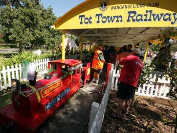 Tot Town Railway 50th Celebration party  at Kowhai Park.