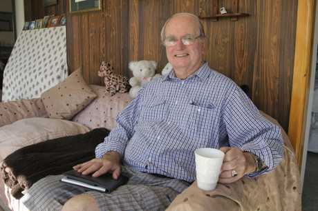 STILL SMILING: Bob Todd OBE, resting at home after a bout of ill health. Mr Todd has stepped down as Hagley-Ferrymead Community Board chairman, but will remain on the community board until the local body elections in October. PHOTO/GEOFF SLOAN.
