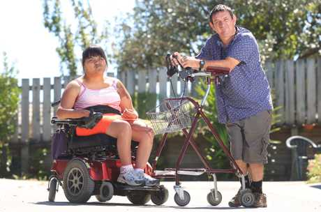 Celebral palsy couple discriminated against by local bus driver. Justina and Jeremy Staines